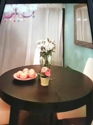 Mesa de comedor extensible wengué