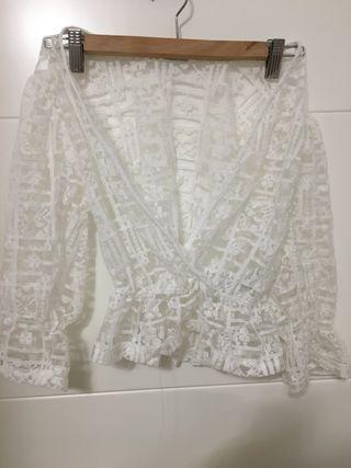 Blusa Zara transparencias
