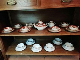 Juego de té de porcelana años 50