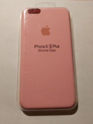 funda silicona iphone 6 plus/6s plus rosa