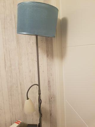 lampara de pie con dos focos