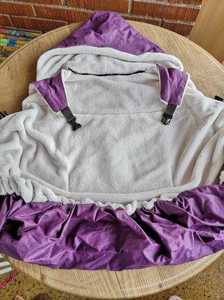 Cobertor artesanal de porteo impermeable