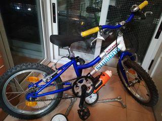 bicicleta 16 pulgadas edad de 4 a 7 años.