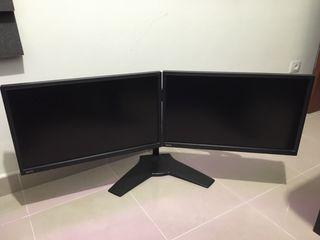 "2 monitores Full HD 24"""