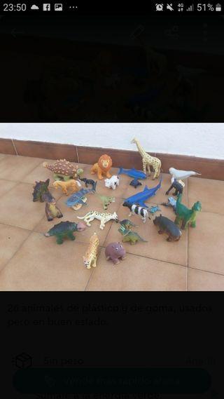 lote de animales de juguete