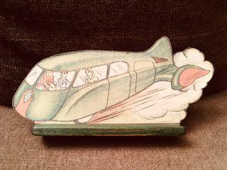 Avión pintado.