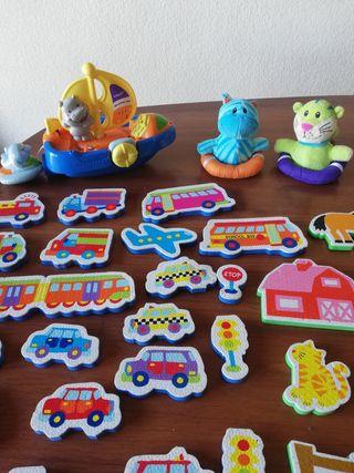 juguetes de bebé para el baño