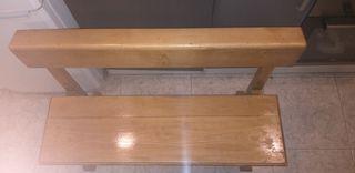 banca de buena madera