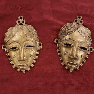 Pareja Mascaras Africanas