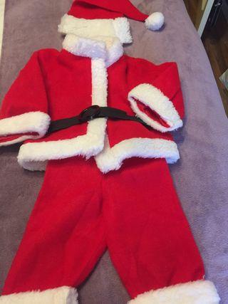 Disfraz para bebé de papá Noel