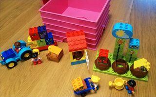 Lego Duplo Huerto + Tractor + Caja Lego