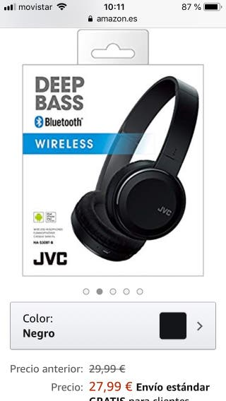 Cascos JVC inalámbricos