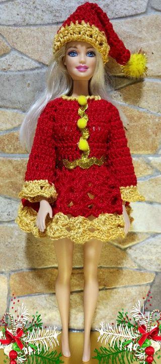 vestido navideño Barbie