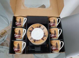 6 tazas de café de porcelana Quid nuevas