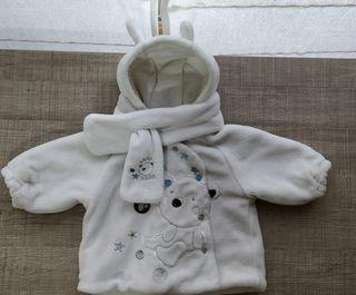Abrigo de bufanda a juego T:9-12m.Ropa bebé