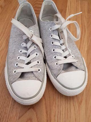 converse grises 37