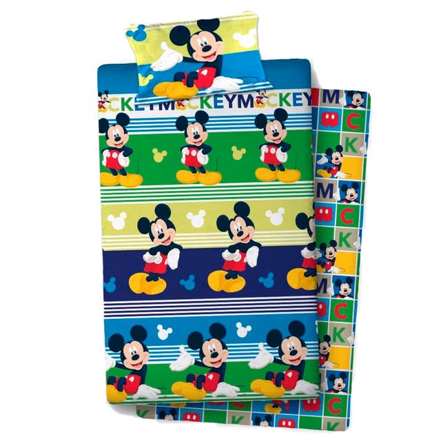 Juego sabanas Mickey Disney cama 105cm