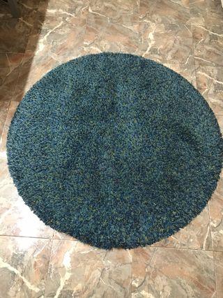 Alfombra redonda azul 130cm
