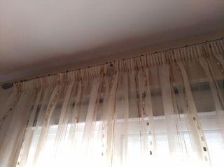 cortinas de organza. regalo aros de acero!!