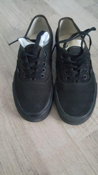 vans zapatillas negras negro 39 7 8,5 originales