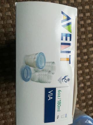 Avent botes leche
