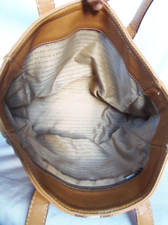 purificación garcia bolso piel tote