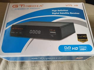 Receptor satélite freesat gtmedia v7s HD + antena