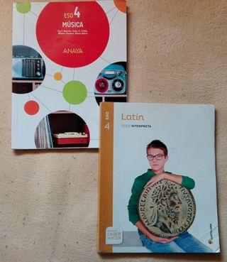 Pack Libros 4º ESO (Musica y Latin)