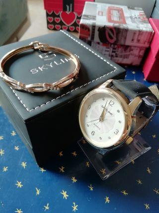 Reloj de mujer Skyline + pulsera