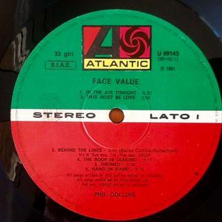 """PHIL COLLINS """"FACE VALUE"""" LP"""
