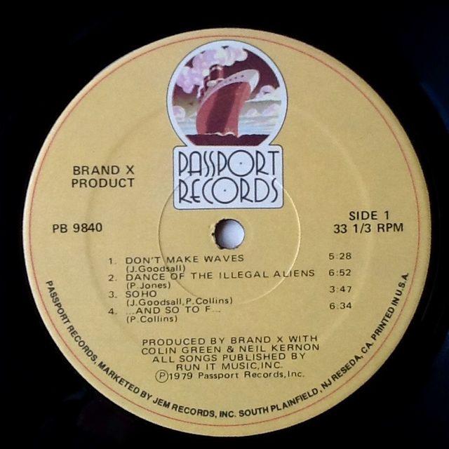"BRAND X ""PRODUCT"" LP"