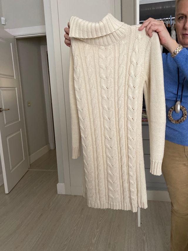 Jersey largo de blanco