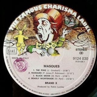 "BRAND X ""MASQUES"" LP"