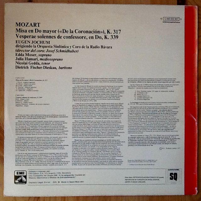 "MOZART ""MISA DE LA CORONACION"" LP"