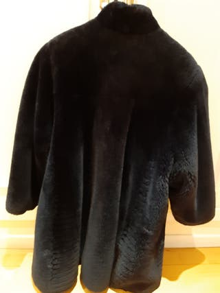 abrigo Mouton azul marino