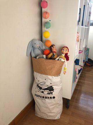 Saquitos infantiles almacenaje decoracion