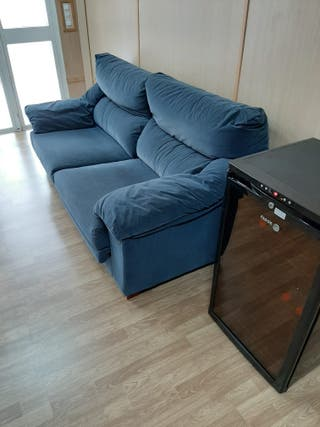 Sofá de 2 plazas reclinable y asiento deslizante