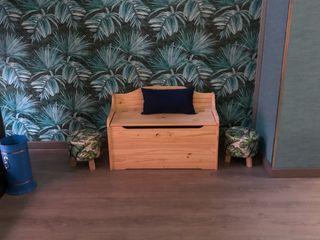 Banco decorativo madera