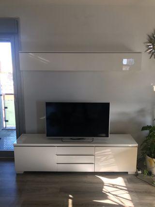Mueble tv Besta Burs + aparador almacenaje Ikea
