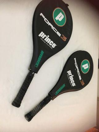 Juego de 2 raquetas ligeras de fibra