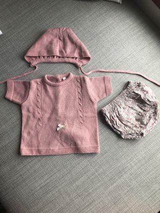 Conjunto lote ranita capota bebe 3 meses traje