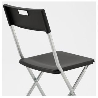 Sillas Plegables Ikea Negras y Metálicas