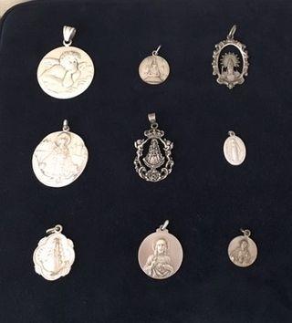 Coleccion de Medallas de Plata Religiosas