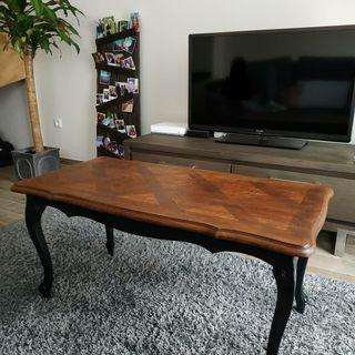 table basse vintage rénovée