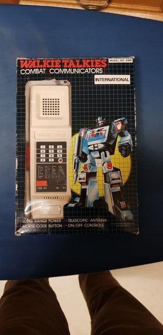 WALKIE TALKIE COMBAT COMMUNICATORS AÑO 1982