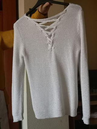 Jersey blanco con cordón
