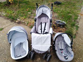 carrito bebé conjunto 3 piezas