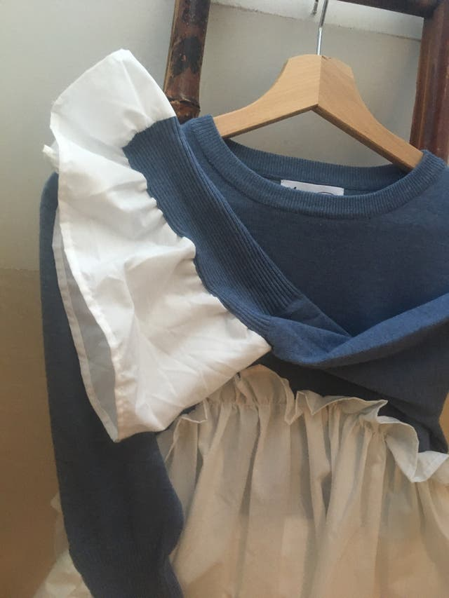Jersey azul y blanco talla unica