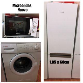 Microondas+Nevera+Lavadora con garantía