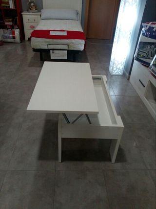 mesa centro elevable.En blanco y cambiarían.